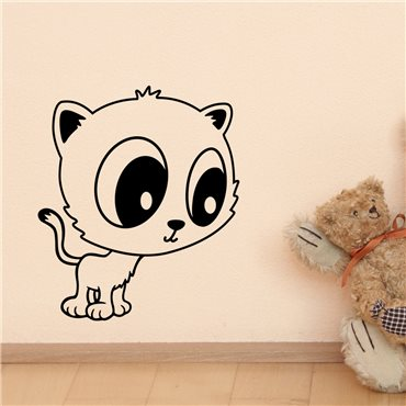 Sticker Manga chaton - stickers animaux enfant & stickers enfant - fanastick.com