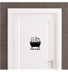 "Sticker porte ""Salle de Bain"" Bain bulles"