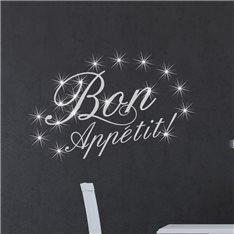 Sticker Bon appetit & 15 Swarovski crystal 3mm