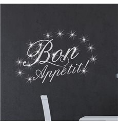 Sticker Bon appetit & 15 Swarovski crystal 3mm