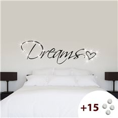 Sticker Dreams & Coeur +15 cristaux Swarovski