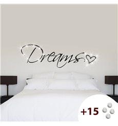 Sticker Dreams & Coeur +15 cristaux Swarovski