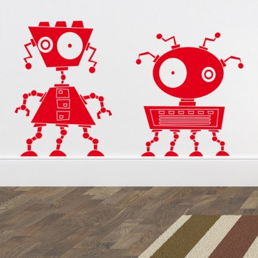 Sticker Robots zinzin 2 - stickers enfants & stickers enfant - fanastick.com