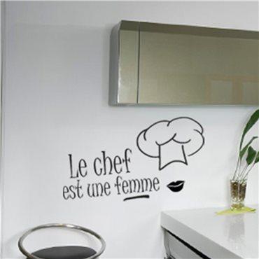 Sticker Le chef est une femme - stickers cuisine & stickers muraux - fanastick.com