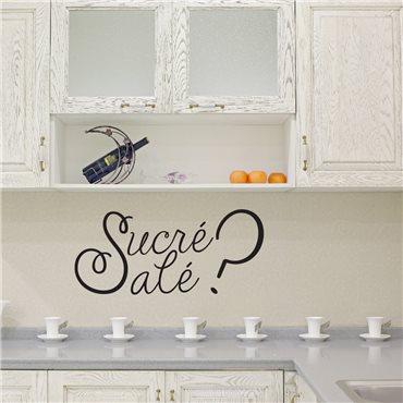 Sticker Sucré Salé ? - stickers cuisine & stickers muraux - fanastick.com
