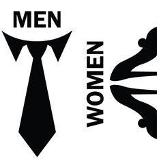 Sticker porte Hommes / Femmes signe 1