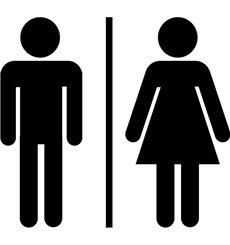 Sticker porte Hommes / Femmes signe 2