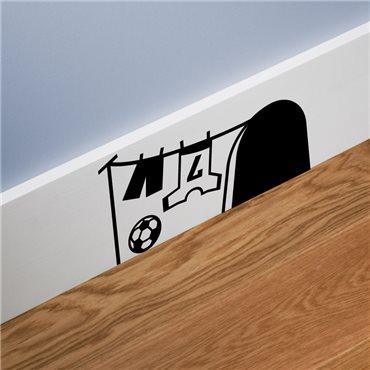 Sticker trou de souris avec le football - stickers animaux & stickers muraux - fanastick.com