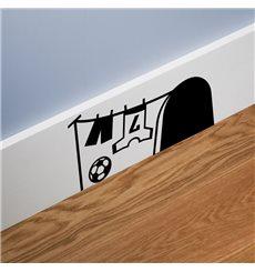 Sticker trou de souris avec le football