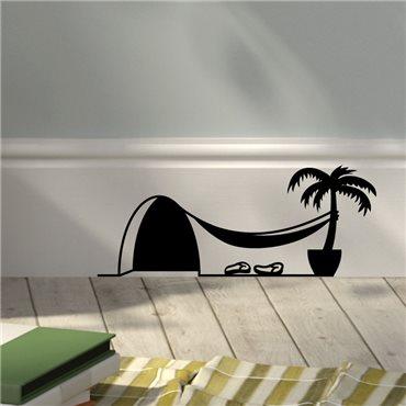 Sticker trou de souris avec palmier - stickers animaux & stickers muraux - fanastick.com