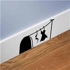 Sticker trou de souris avec la dame blanchisserie