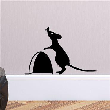 Sticker trou de souris avec la souris 2 - stickers animaux & stickers muraux - fanastick.com