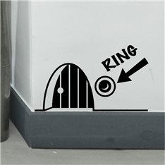 Sticker trou de souris avec sonnette