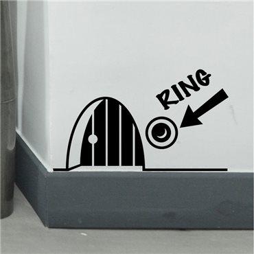 Sticker trou de souris avec sonnette - stickers animaux & stickers muraux - fanastick.com