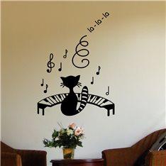 Sticker Chat et piano