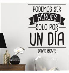Sticker Podemos ser héroes… David Bowie