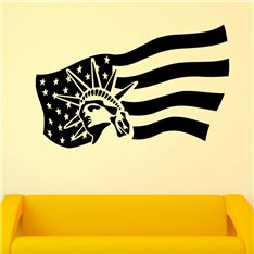 Sticker Liberté drapeau