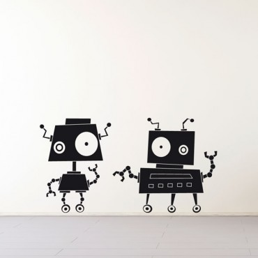 Sticker Robots zinzin 4 - stickers enfants & stickers enfant - fanastick.com
