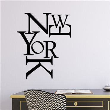 Sticker New York composition - stickers new york & stickers muraux - fanastick.com