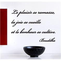 """Sticker citation de Bouddha – """"Le bonheur se cultive"""""""