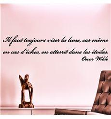 Sticker Il faut toujours viser la lune - Oscar Wilde