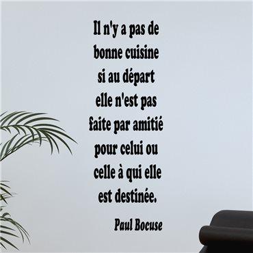 Sticker Une bonne cuisine - Paul Bocuse - import1804 & stickers muraux - fanastick.com