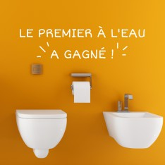 "Sticker citation :""le premier à l'eau..."""