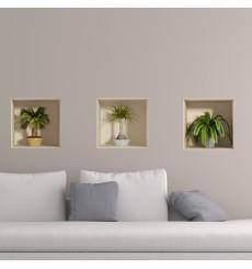 Sticker effet 3D Petits palmiers 30x90cm