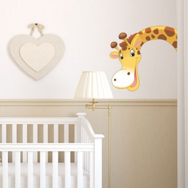 Sticker Tête de girafe - stickers animaux enfant & stickers enfant - fanastick.com