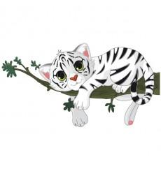 Sticker Tigre sur sa branche