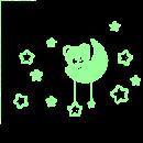 sticker phosphorescent