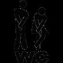Sticker homme femme toilettes