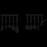Sticker ustensiles cuisine